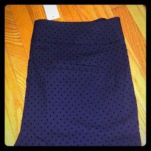 NWT baby blue polka dot work pants 2